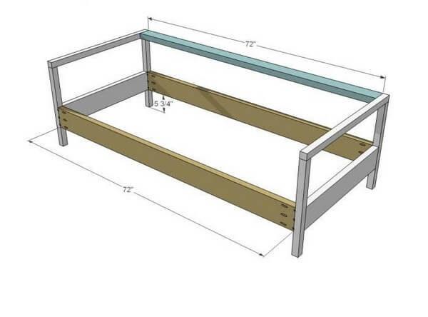 чертеж диванчика для балкона