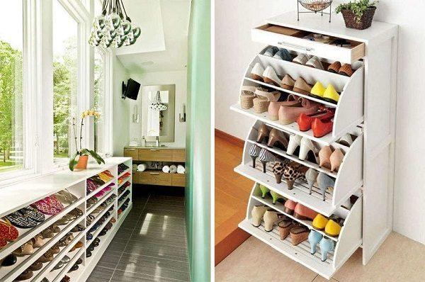 фото: хранение обуви на балконе