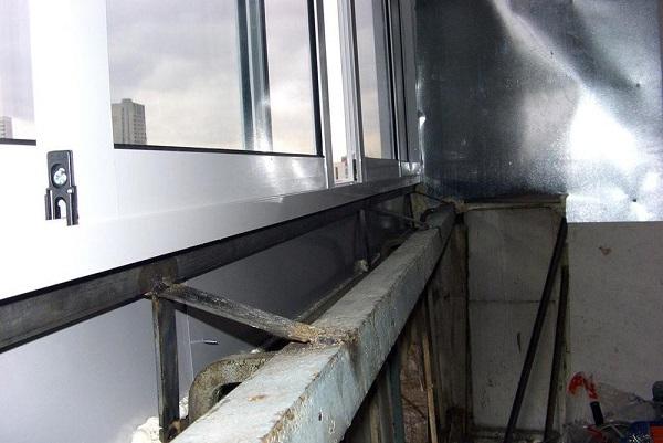 новое ограждение балкона