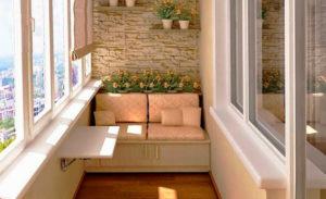 фото: мебель на балконе
