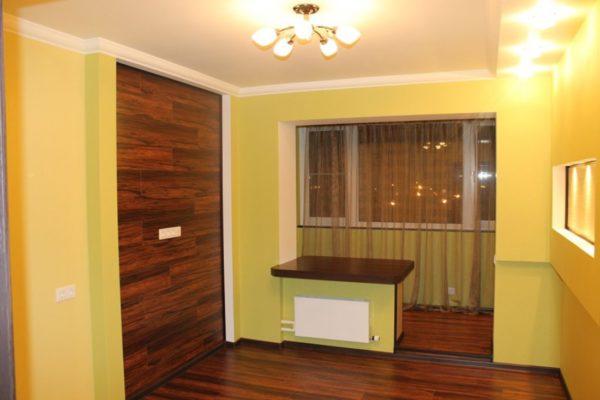 фото: объединение лоджии с комнатой