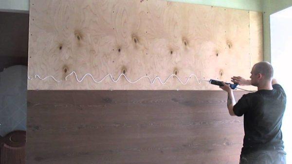 фото: способ крепления ламината на стену
