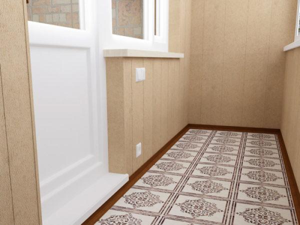 фото: плитка на балконе