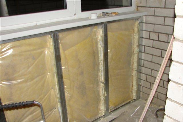 Утеплить стены балкона своими руками