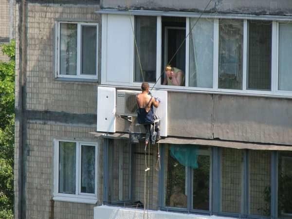 фото: утепление балкона снаружи