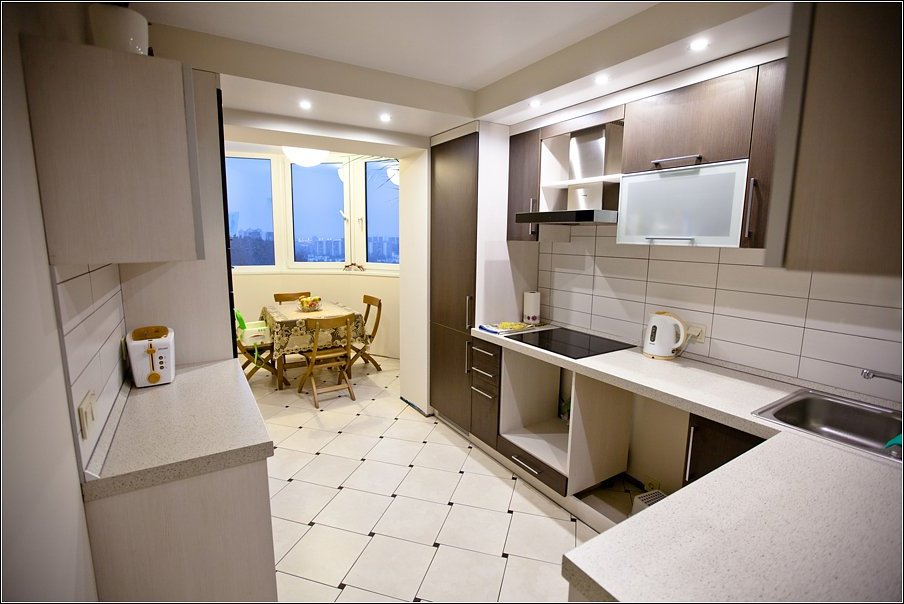 Кухня 6 кв.м с балконом дизайн фото