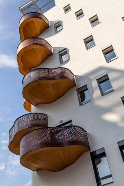 необычный балкон