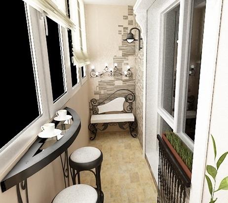 варианты оформления балкона 2