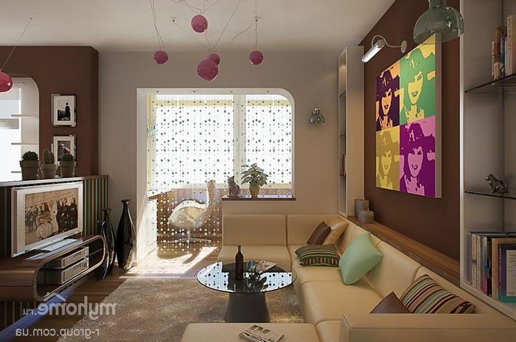 Совмещенная гостиная с балконом: 11 фото дизайна.
