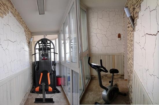 фото: спортзал на балконе