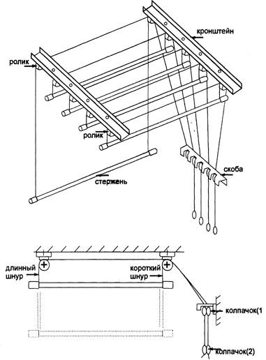 Как установить потолочную сушилку для белья - всё о балконе.