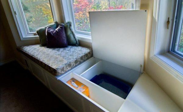 диван с нишами
