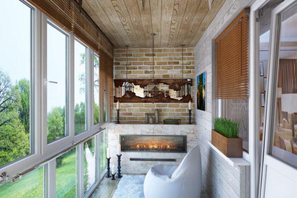 обустройство балкона в частном доме