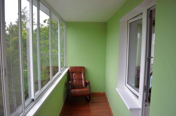 балкон обшитый гипсокартоном