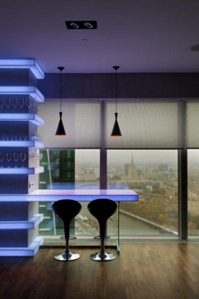 фото: барная стойка с подсветкой