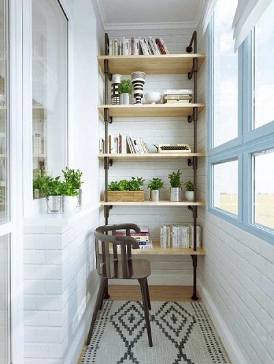 Сделать стеллаж на балкон своими руками