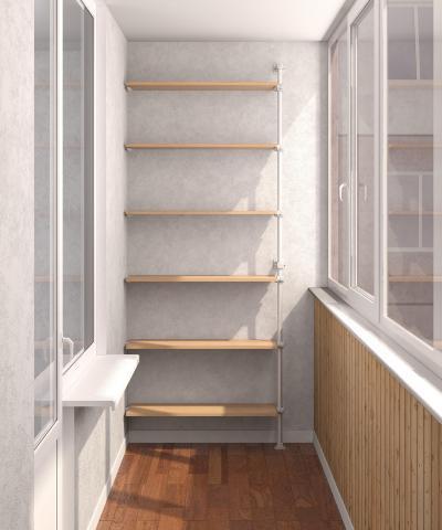 Стеллаж на балкон своими руками: металлический, деревянный, .