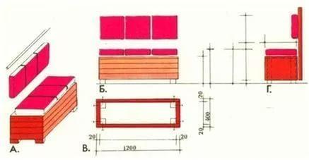 Скамейка для кухни с ящиком своими руками 4