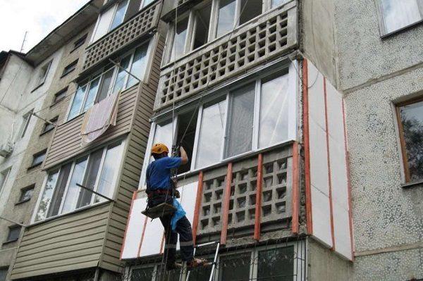 фото: Наружное утепление балкона