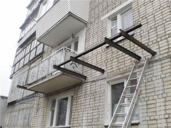 расширение балкона в хрущевке