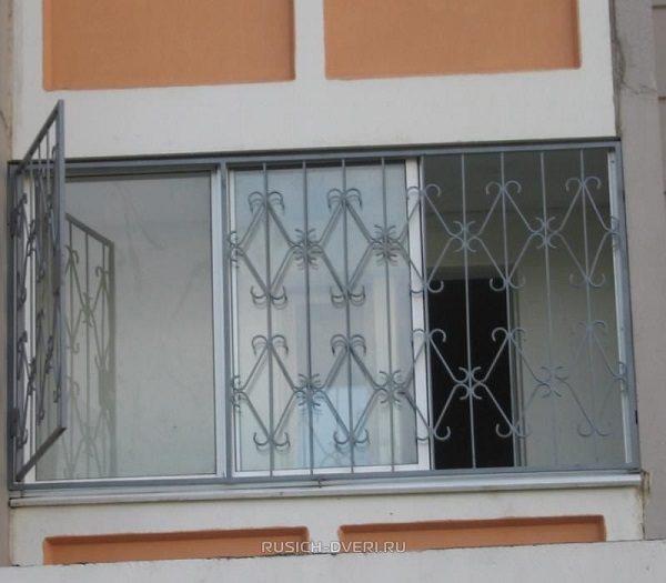 распашные решетки на балкон