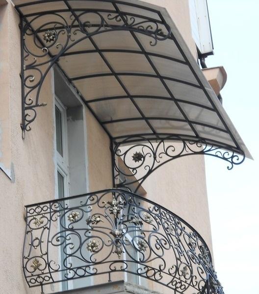 Как сделать козырек на балконе последнего этажа своими руками