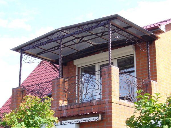 Как сделать козырёк на балконе из поликарбоната