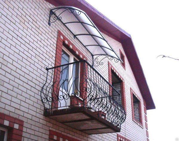 дизайн козырька балкона