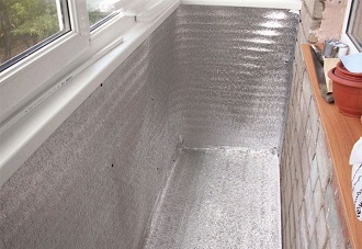 фото: Утепление балкона изнутри
