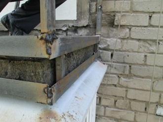фото: Укрепление консольной балконной плиты