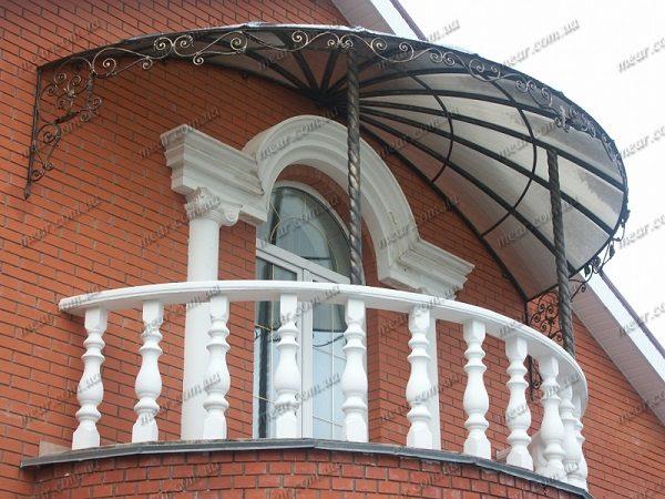 купольный навес на балкон
