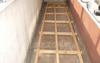 фото: Обустройство пола на бетонной плите