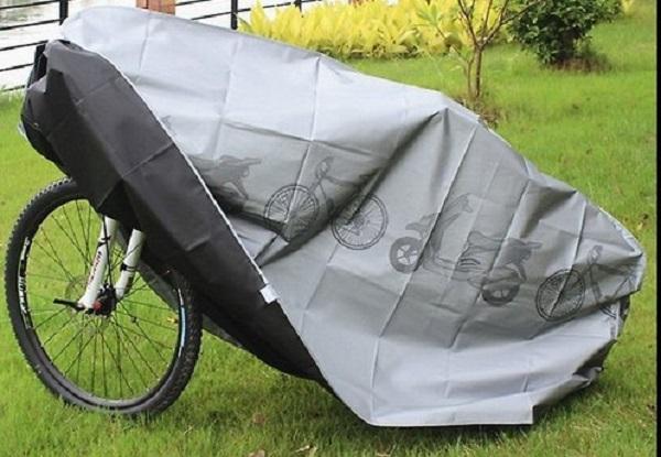 фото: велосипед под чехлом