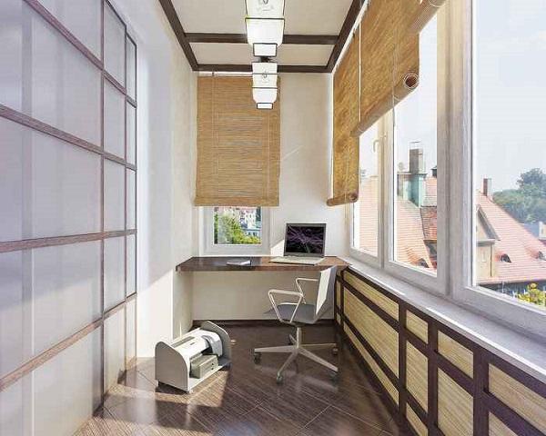 фото: Японский стиль в интерьере балкона