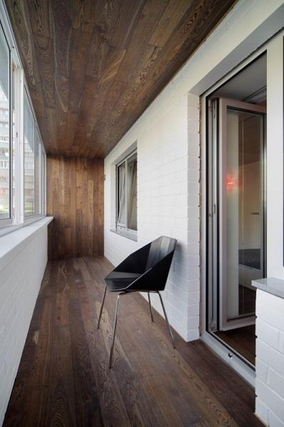 фото: дизайн балкона в стиле лофт