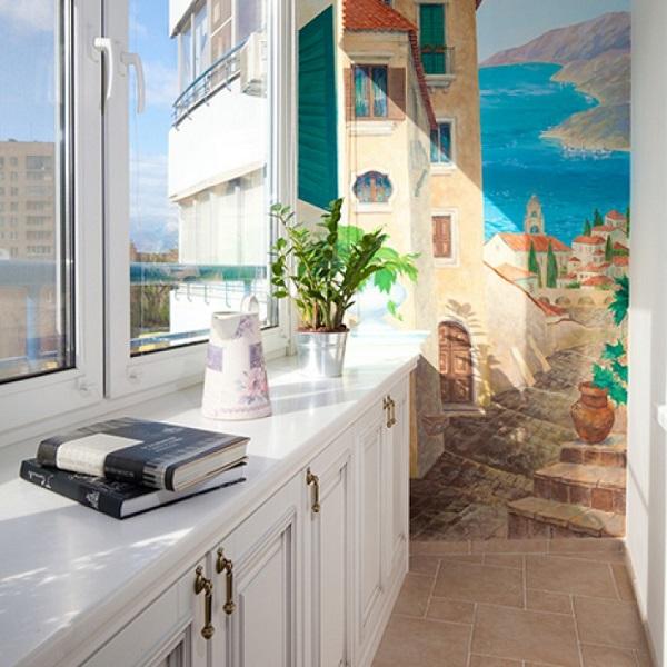 фото: Средиземноморский стиль балкона