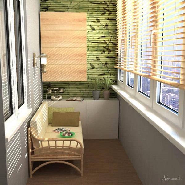Эко-стиль дизайна балкона и лоджии