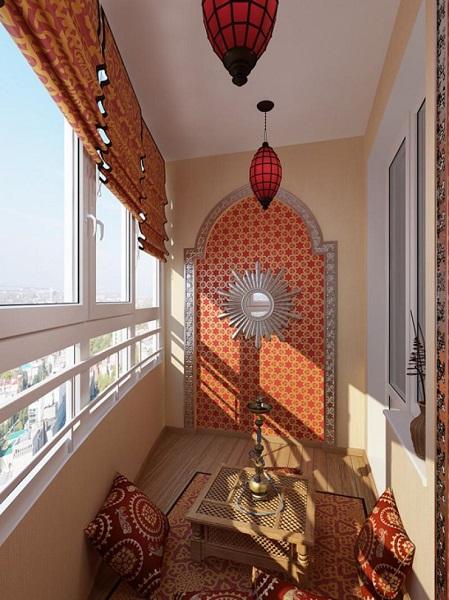 фото: Марокканский стиль балкона