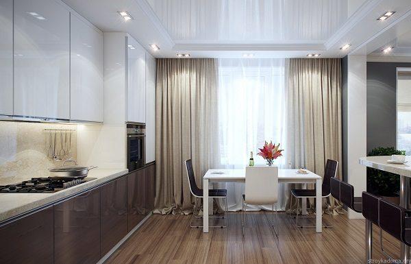 фото: шторы на кухню в современном стиле