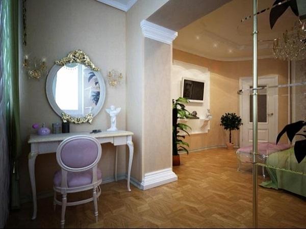 фото: макияжная зона на балконе