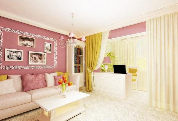 фото: комната с балконом в одном стиле