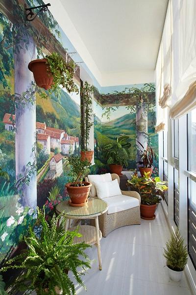 фото: зона отдыха на балконе