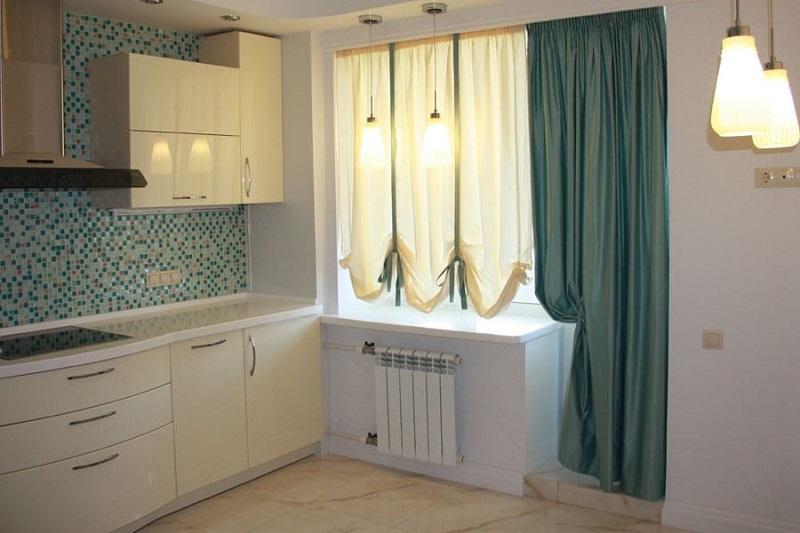 красивые шторы на кухню с балконом
