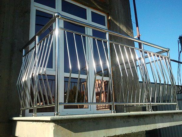 перила ограждения из нержавеющей стали для балкона