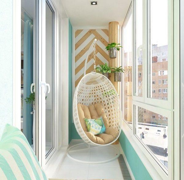 двухцветный панорамный балкон