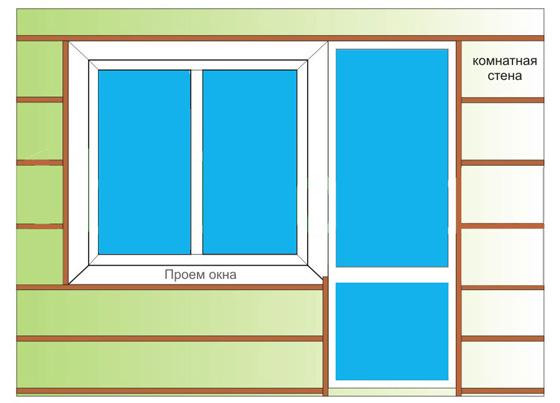 обрешетка для балкона