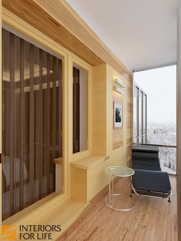 Современный дизайн балкона с панорамным остеклением: идеи, ф.