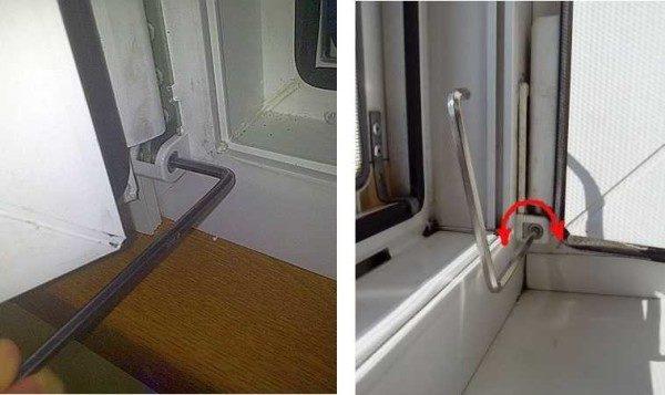 регулировка балконной двери по горизонтали