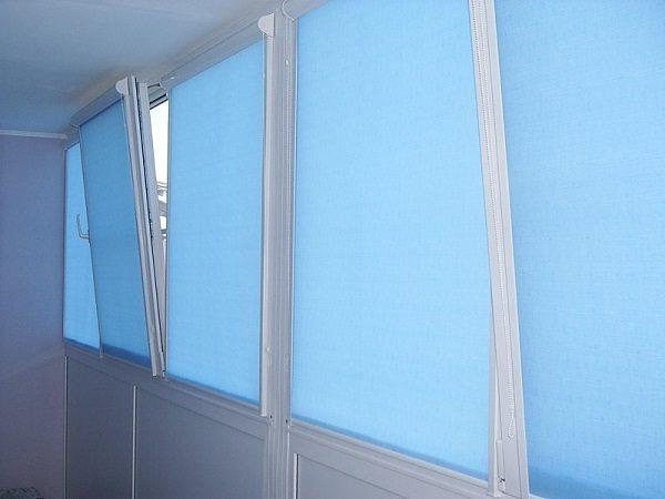 рулонные шторы на балкон uni