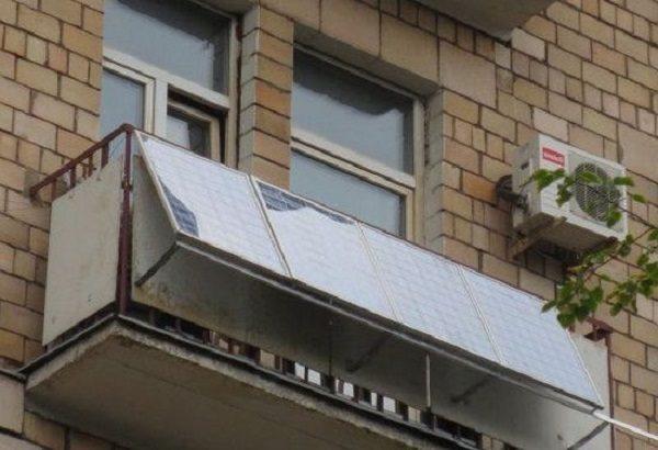 солнечные панели на парапет балкона